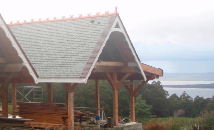 slate roof barefoot farm